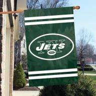 New York Jets NFL Applique 2-Sided Banner Flag