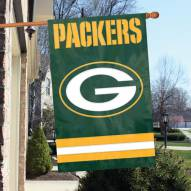 Green Bay Packers NFL Applique 2-Sided Banner Flag