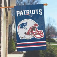 New England Patriots NFL Applique 2-Sided Banner Flag