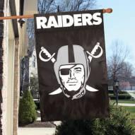 Oakland Raiders NFL Applique 2-Sided Banner Flag