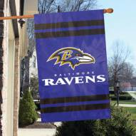 Baltimore Ravens NFL Applique 2-Sided Banner Flag