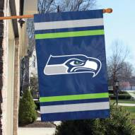 Seattle Seahawks NFL Applique 2-Sided Banner Flag