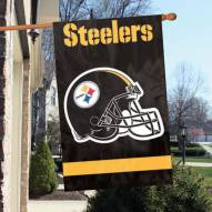 Pittsburgh Steelers NFL Applique 2-Sided Banner Flag
