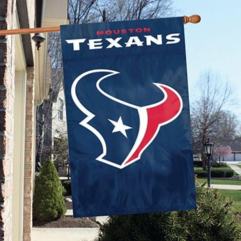 Houston Texans NFL Applique 2-Sided Banner Flag