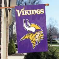 Minnesota Vikings NFL Applique 2-Sided Banner Flag