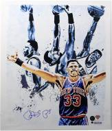 Patrick Ewing Light Signed 22x26 Canvas (Signed in Blue)