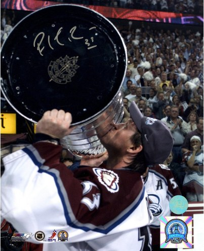Patrick Roy Colorado Avalanche Signed 2001 Stanley Cup 8 x 10 Photo