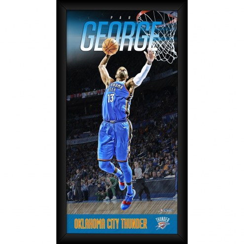 Paul George Oklahoma City Thunder Player Profile Framed 10x20 Photo Collage