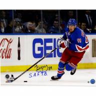 """Pavel Buchnevich Signed 'Skating with Puck' 16 x 20 Photo w/ """"S.A.F.T.B"""""""