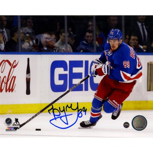 Pavel Buchnevich Signed 'Skating with Puck' 8 x 10 Photo