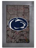 "Penn State Nittany Lions 11"" x 19"" City Map Framed Sign"