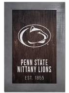 "Penn State Nittany Lions 11"" x 19"" Laurel Wreath Framed Sign"