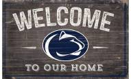 "Penn State Nittany Lions 11"" x 19"" Welcome to Our Home Sign"