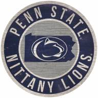 "Penn State Nittany Lions 12"" Circle with State Sign"