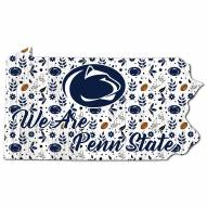 "Penn State Nittany Lions 12"" Floral State Sign"