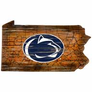 "Penn State Nittany Lions 12"" Roadmap State Sign"