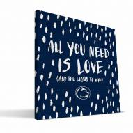 """Penn State Nittany Lions 12"""" x 12"""" All You Need Canvas Print"""