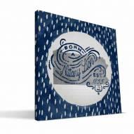 "Penn State Nittany Lions 12"" x 12"" Born a Fan Canvas Print"