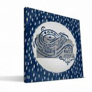 "Penn State Nittany Lions 12"" x 12"" Born a Fan Canvas Print"