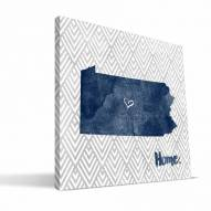 """Penn State Nittany Lions 12"""" x 12"""" Home Canvas Print"""