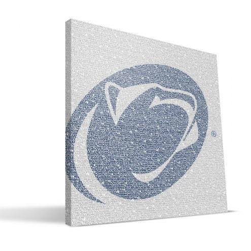 """Penn State Nittany Lions 16"""" x 16"""" Typo Canvas Print"""