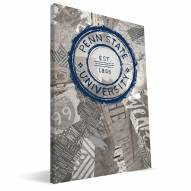 """Penn State Nittany Lions 16"""" x 24"""" Scrapbook Canvas Print"""