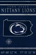 "Penn State Nittany Lions 17"" x 26"" Coordinates Sign"