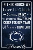 "Penn State Nittany Lions 17"" x 26"" In This House Sign"