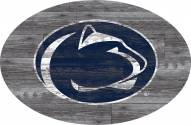 "Penn State Nittany Lions 46"" Distressed Wood Oval Sign"