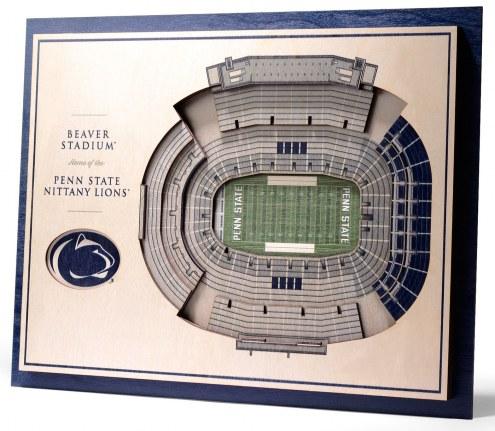 Penn State Nittany Lions 5-Layer StadiumViews 3D Wall Art