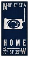 "Penn State Nittany Lions 6"" x 12"" Coordinates Sign"