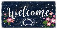 "Penn State Nittany Lions 6"" x 12"" Floral Welcome Sign"