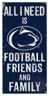 "Penn State Nittany Lions 6"" x 12"" Friends & Family Sign"