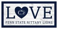 """Penn State Nittany Lions 6"""" x 12"""" Love Sign"""
