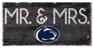 "Penn State Nittany Lions 6"" x 12"" Mr. & Mrs. Sign"