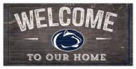 """Penn State Nittany Lions 6"""" x 12"""" Welcome Sign"""