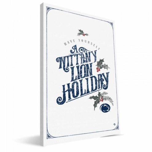 """Penn State Nittany Lions 8"""" x 12"""" Merry Little Christmas Canvas Print"""