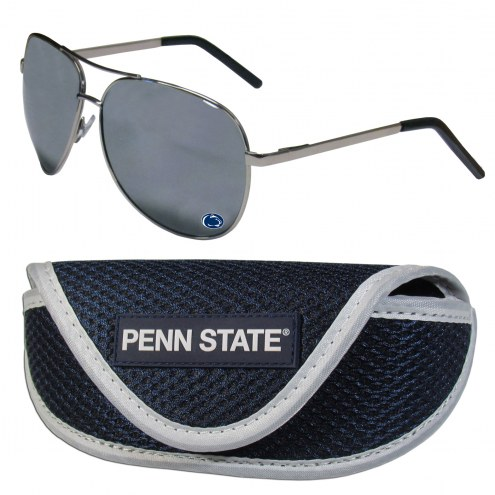 Penn State Nittany Lions Aviator Sunglasses and Sports Case