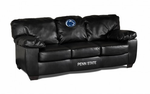 Penn State Nittany Lions Black Leather Classic Sofa