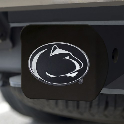 Penn State Nittany Lions Black Matte Hitch Cover