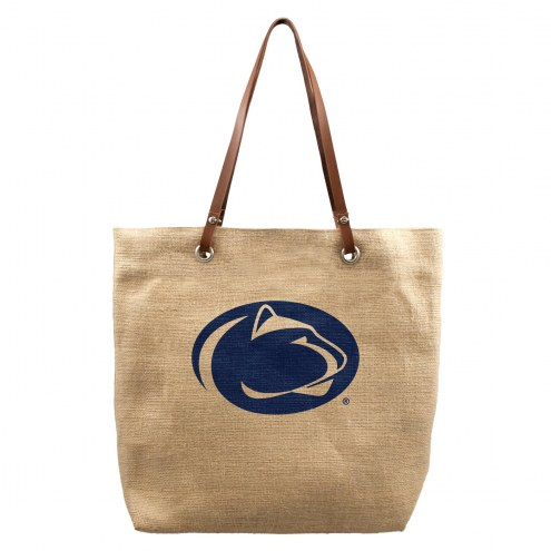Penn State Nittany Lions Burlap Market Tote