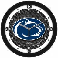 Penn State Nittany Lions Carbon Fiber Wall Clock