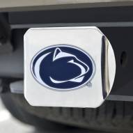 Penn State Nittany Lions Chrome Color Hitch Cover