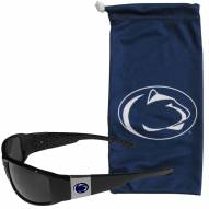 Penn State Nittany Lions Chrome Wrap Sunglasses & Bag