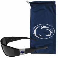 Penn State Nittany Lions Chrome Wrap Sunglasses & Bag
