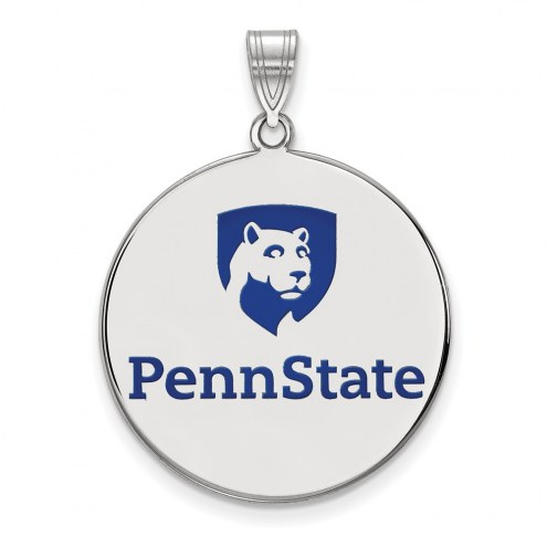 Penn State Nittany Lions Sterling Silver Extra Large Enameled Disc Pendant