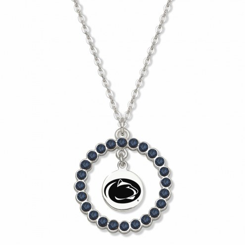 Penn State Nittany Lions Crystal Wreath Logo Necklace