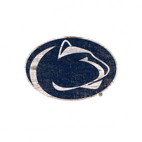 Penn State Nittany Lions Distressed Logo Cutout Sign