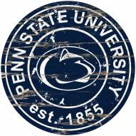 Penn State Nittany Lions Distressed Round Sign