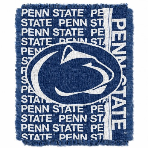Penn State Nittany Lions Double Play Woven Throw Blanket